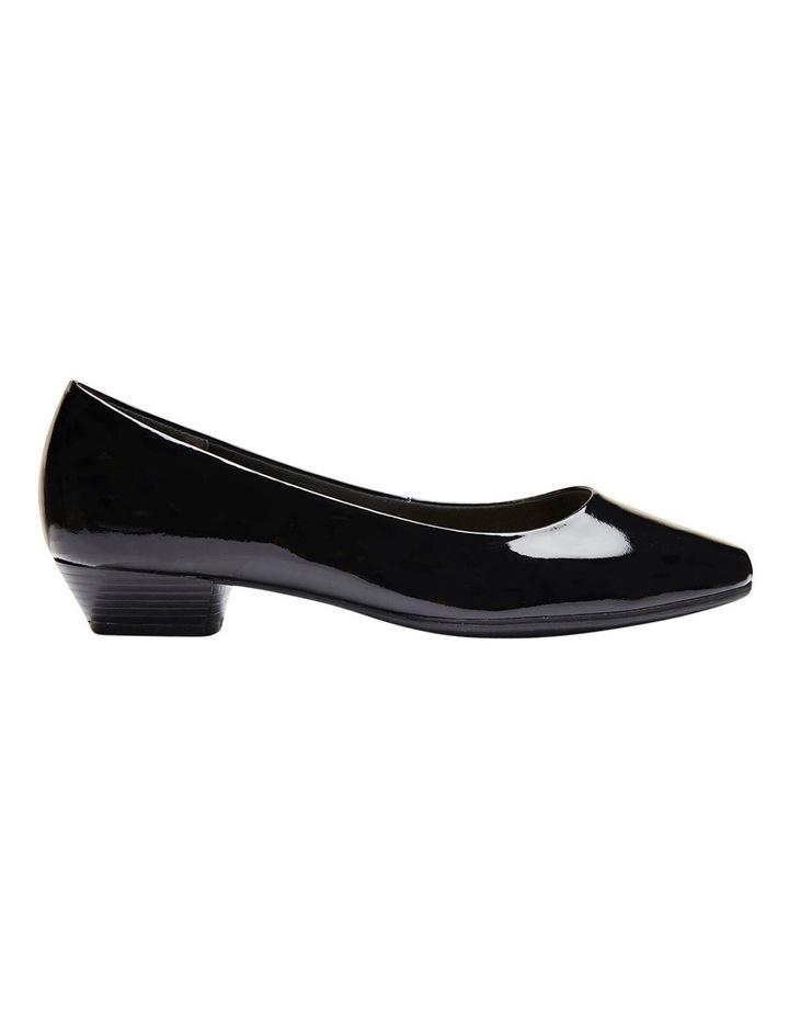 Regal Black Patent Heeled Shoes image 2