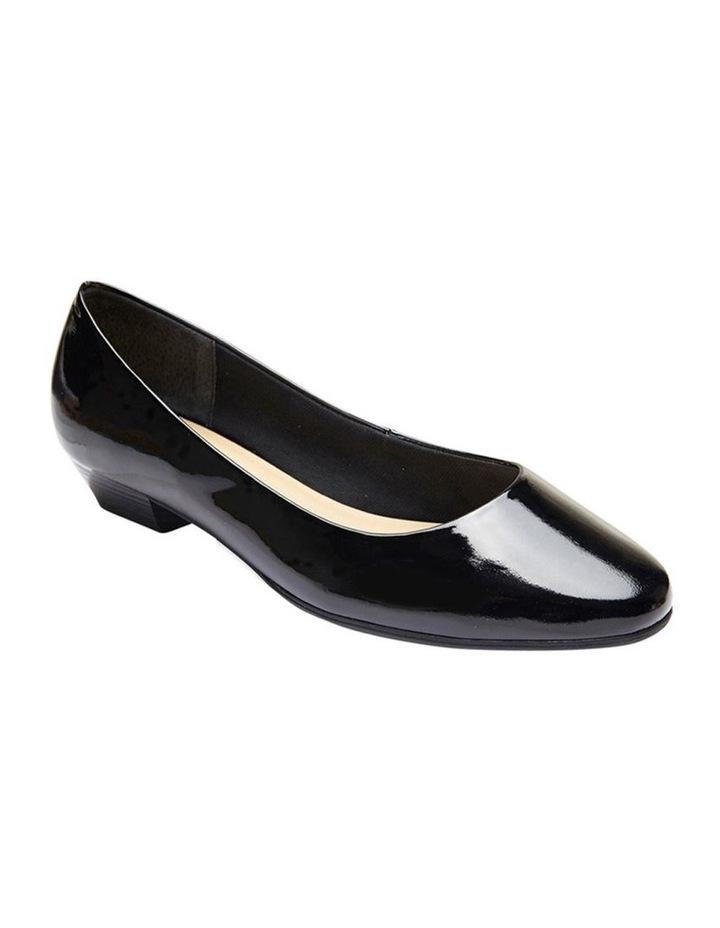 Regal Black Patent Heeled Shoes image 3