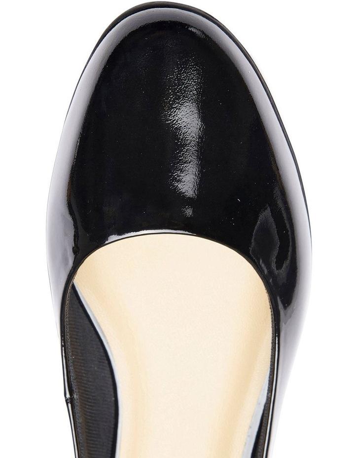 Regal Black Patent Heeled Shoes image 5