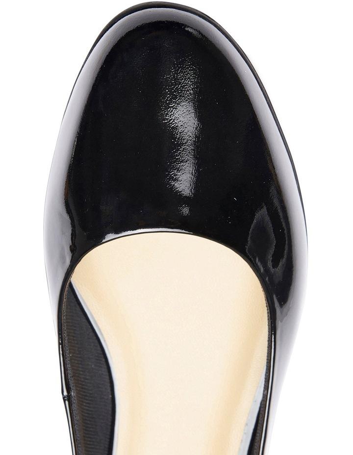 Regal Black Patent Heeled Shoes image 6