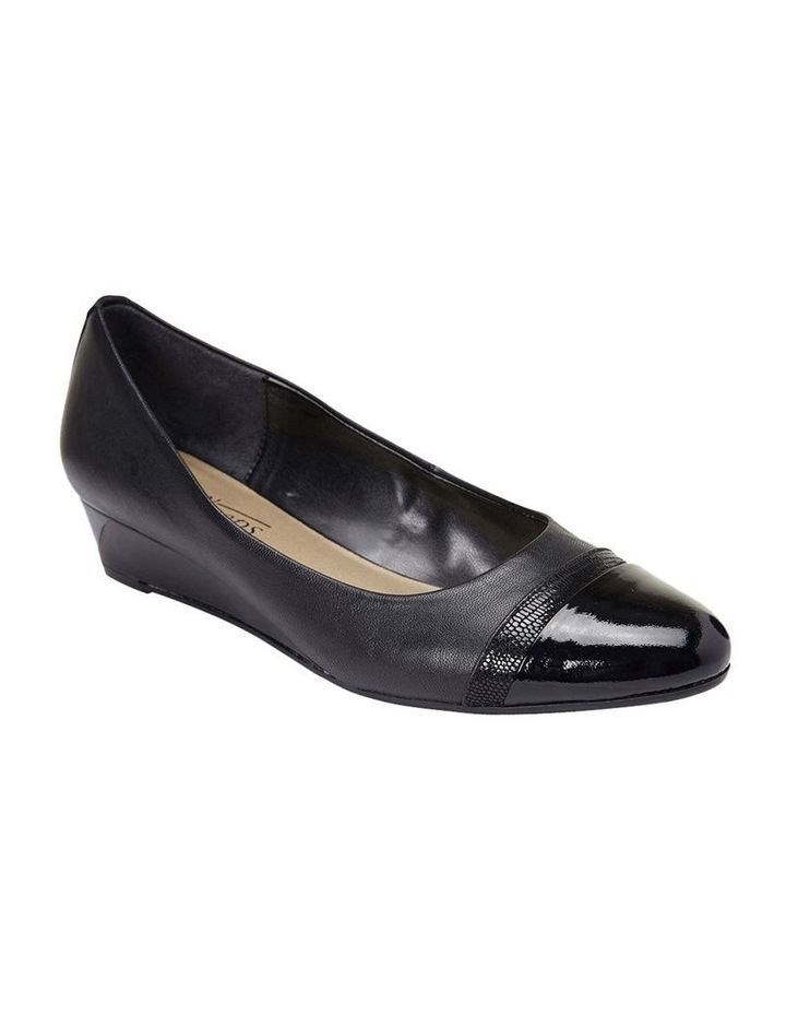 Ruth Black Patent/Glove Heeled Shoes image 1
