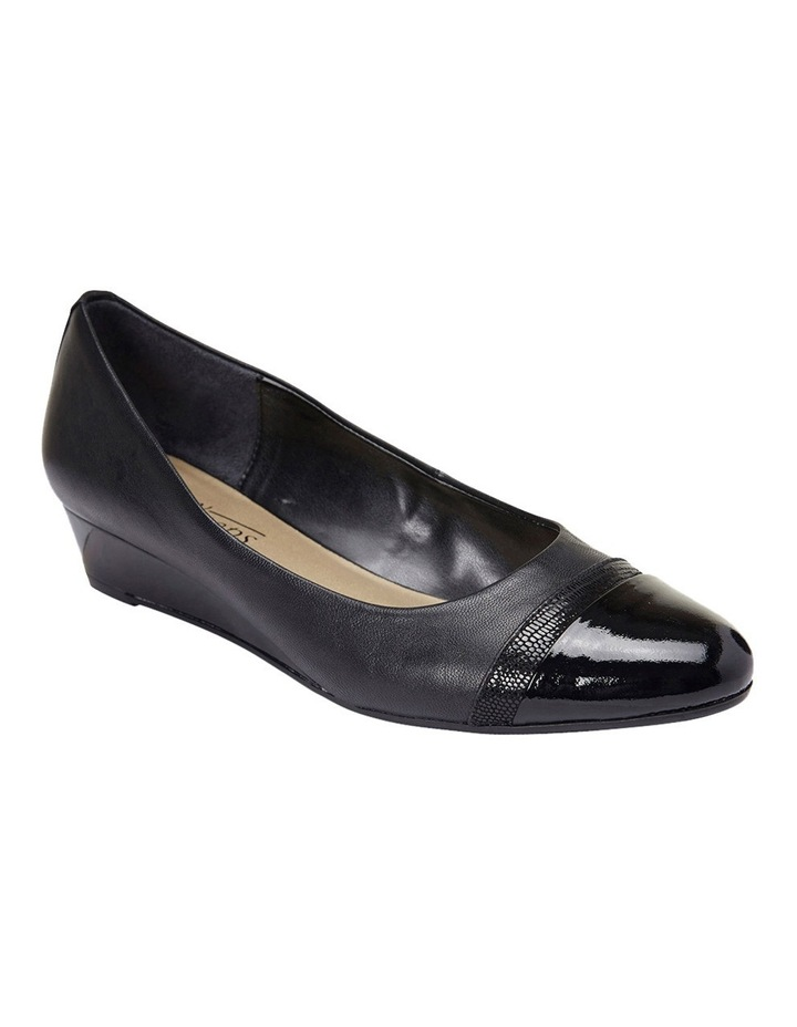 Ruth Black Patent/Glove Heeled Shoes image 4