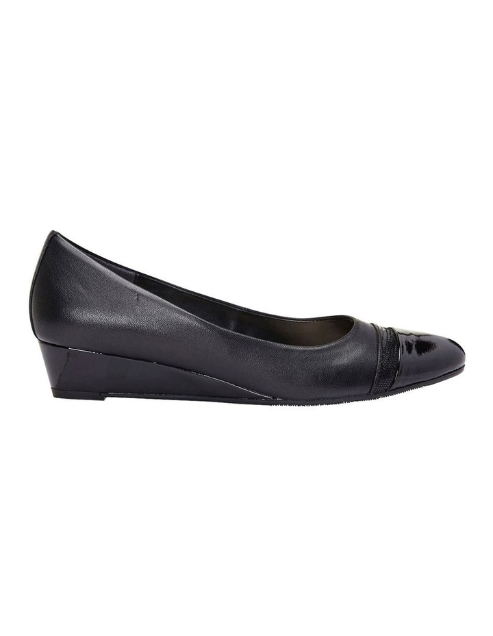 Ruth Black Patent/Glove Heeled Shoes image 3