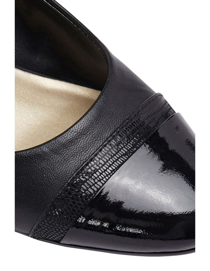 Ruth Black Patent/Glove Heeled Shoes image 5