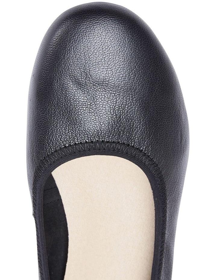 Pamper Black Glove Ballet Flat Shoes image 7