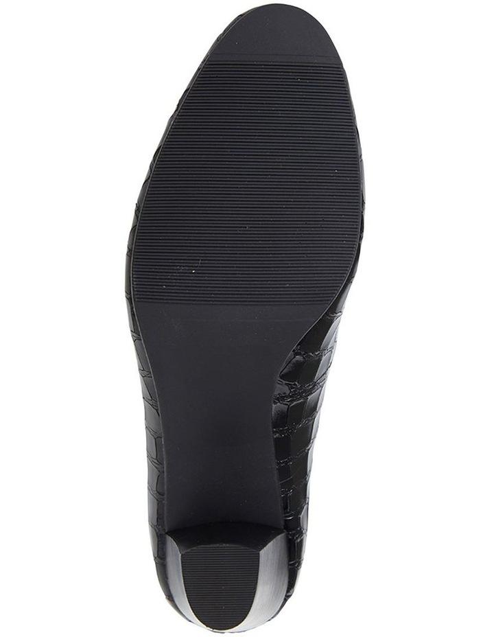 Marley Black Croc Print Heeled Shoes image 6