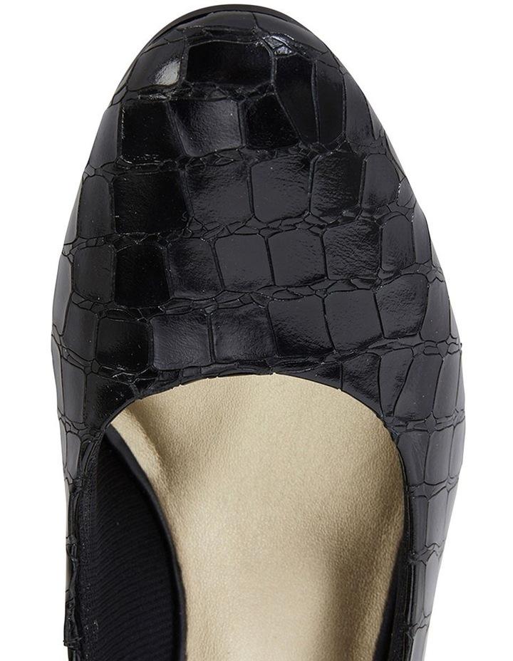 Marley Black Croc Print Heeled Shoes image 7