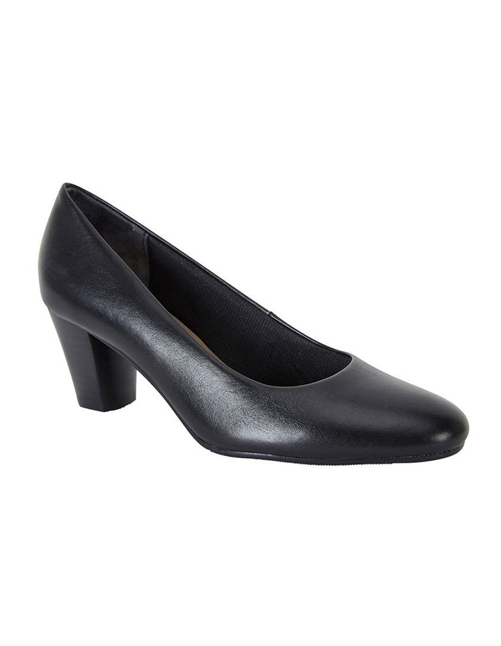 Marley Black Glove Heeled Shoes image 2