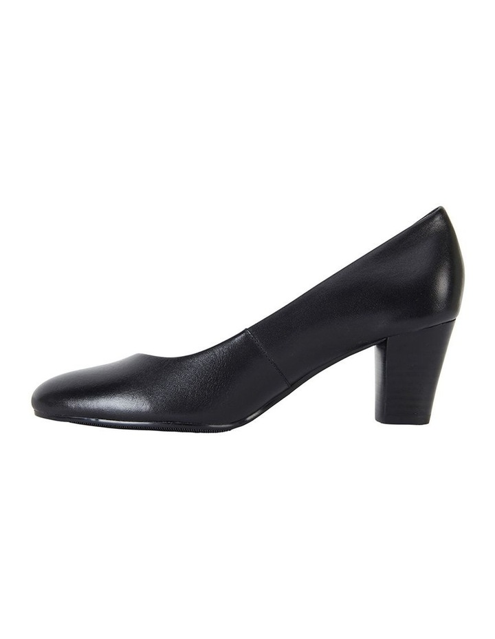 Marley Black Glove Heeled Shoes image 3