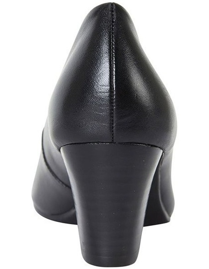 Marley Black Glove Heeled Shoes image 5