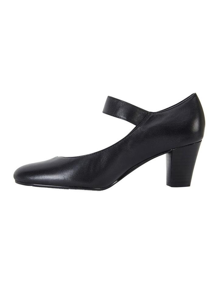 Megan Black Glove Heeled Shoes image 3