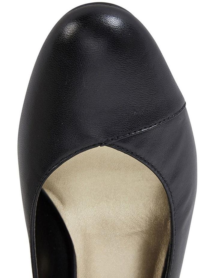 Megan Black Glove Heeled Shoes image 7