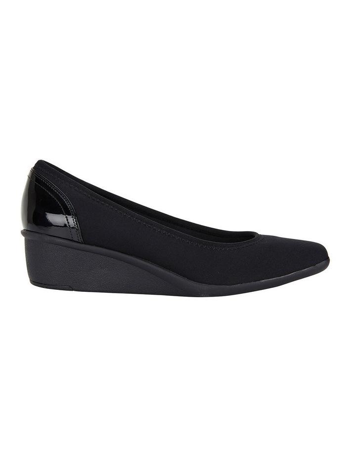 Prague Black Fabric Heeled Shoes image 1