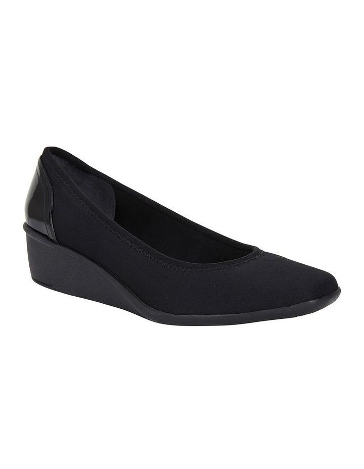 Prague Black Fabric Heeled Shoes image 2