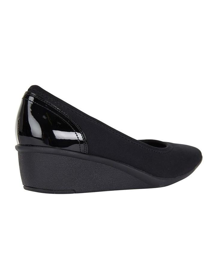 Prague Black Fabric Heeled Shoes image 4