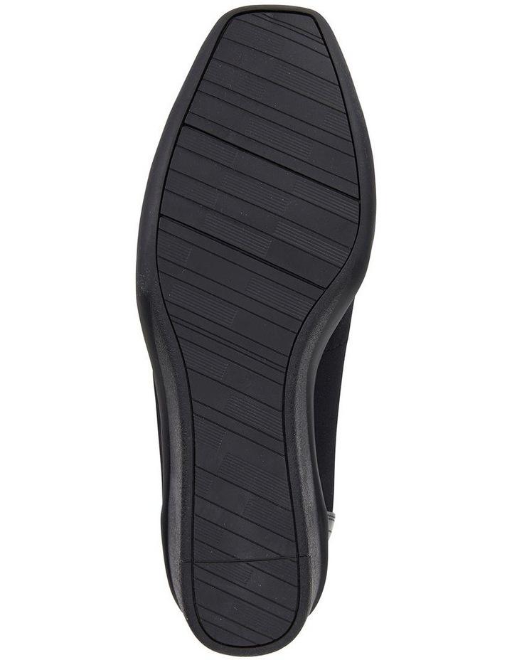 Prague Black Fabric Heeled Shoes image 6