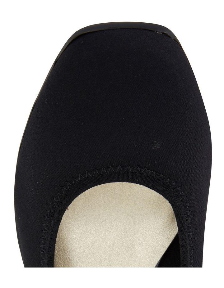 Prague Black Fabric Heeled Shoes image 7