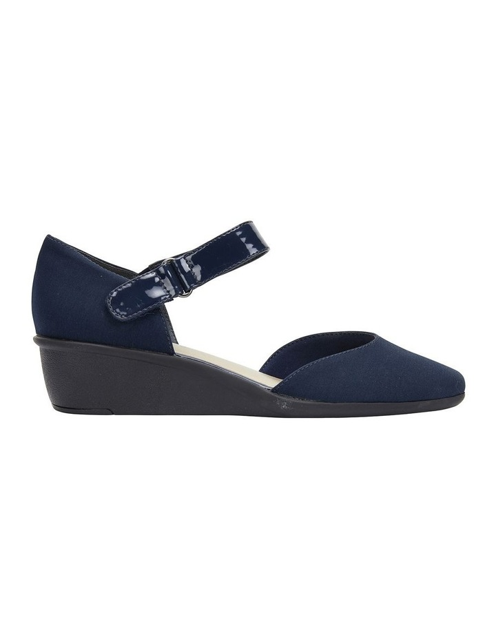 Patriot Navy Fabric Heeled Shoes image 1