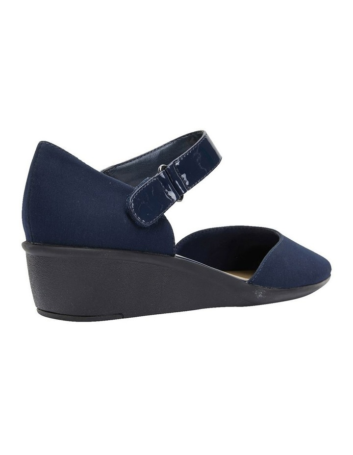 Patriot Navy Fabric Heeled Shoes image 4