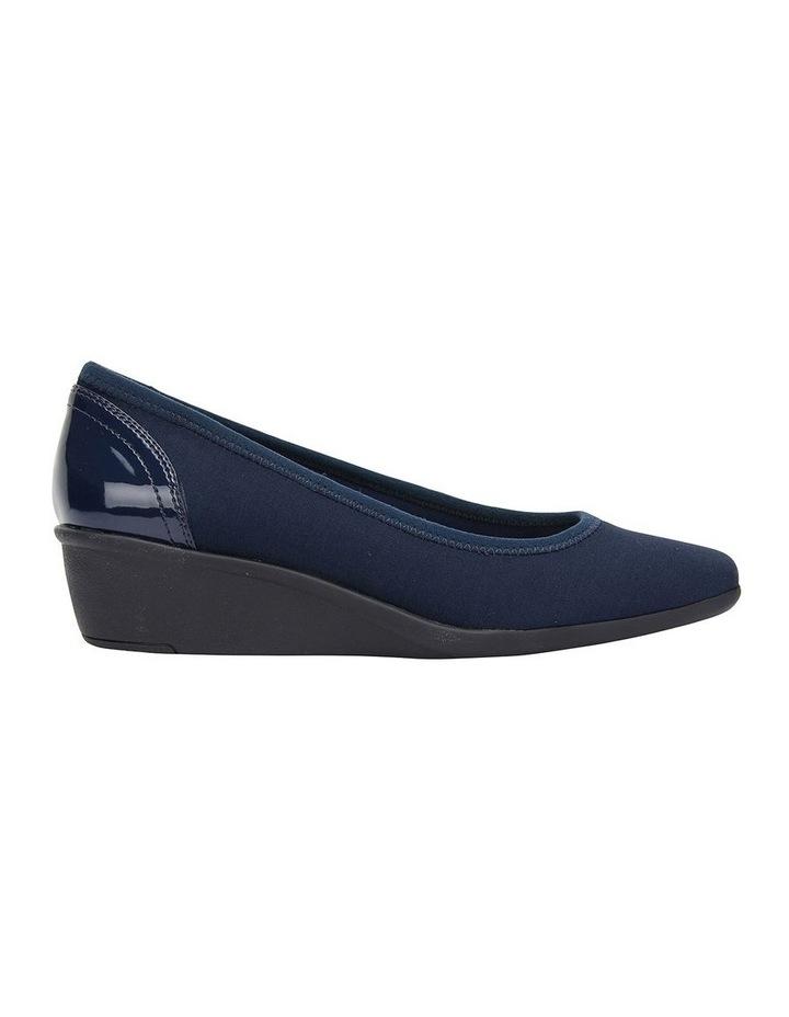 Prague Navy Fabric Heeled Shoes image 1