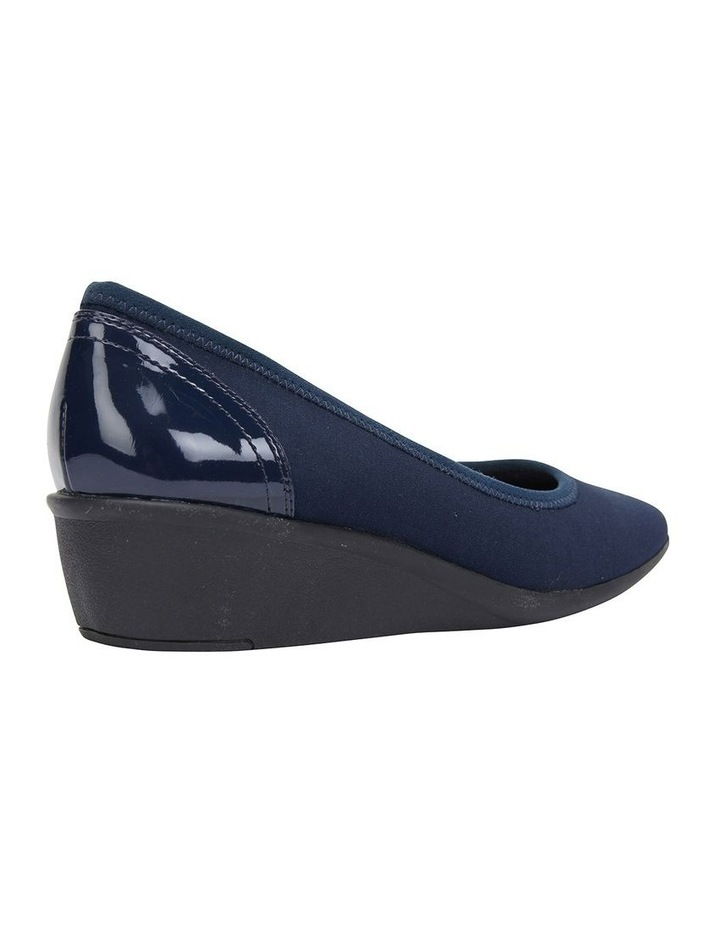 Prague Navy Fabric Heeled Shoes image 4