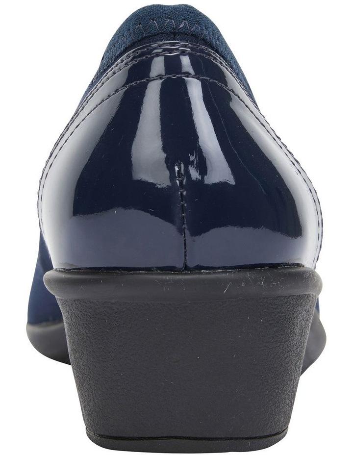Prague Navy Fabric Heeled Shoes image 5