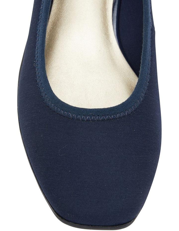 Prague Navy Fabric Heeled Shoes image 7