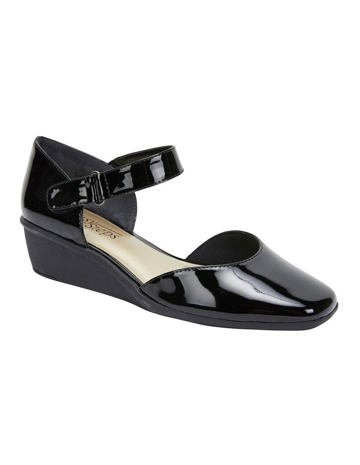 Pavilion Black Patent Heeled Shoes image 2