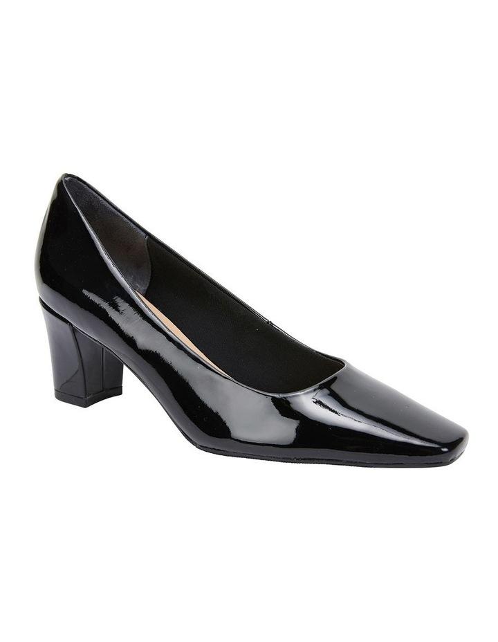 Nicole Black Patent Heeled Shoe image 2