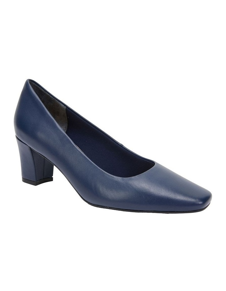 Nicole Navy Glove Heeled Shoe image 2