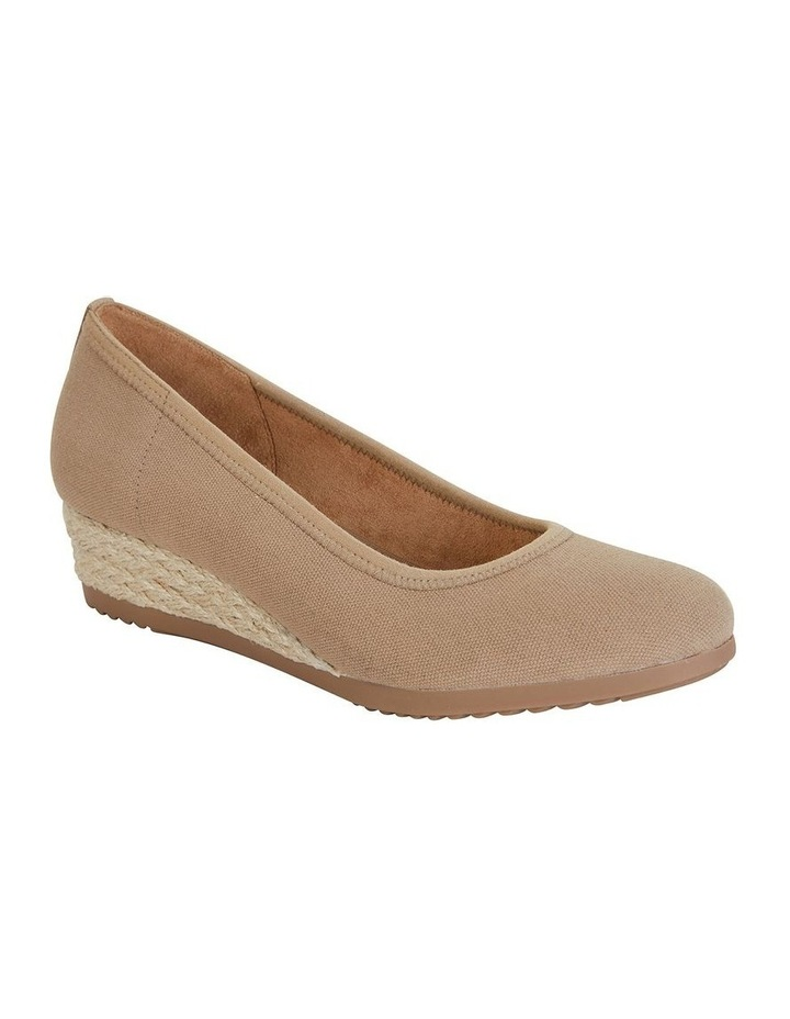 Inferno Taupe Fabric Heeled Shoe image 1