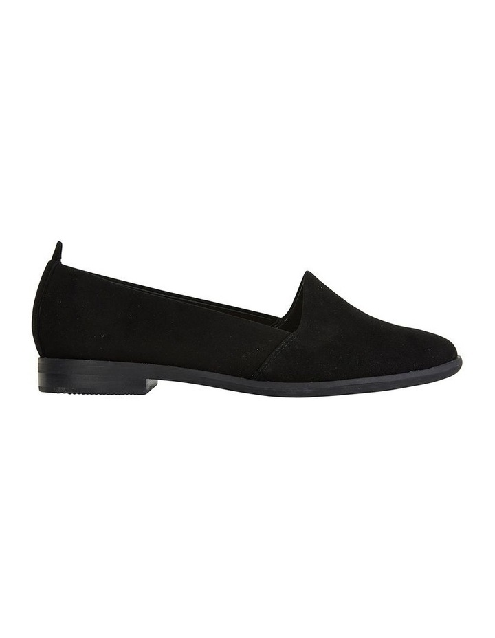 Kelly Black Suede Flat Shoes image 1