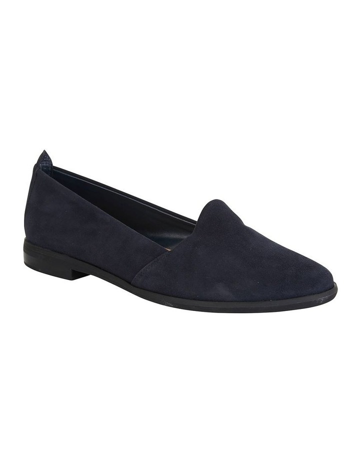 Kelly Navy Suede Flat Shoes image 2