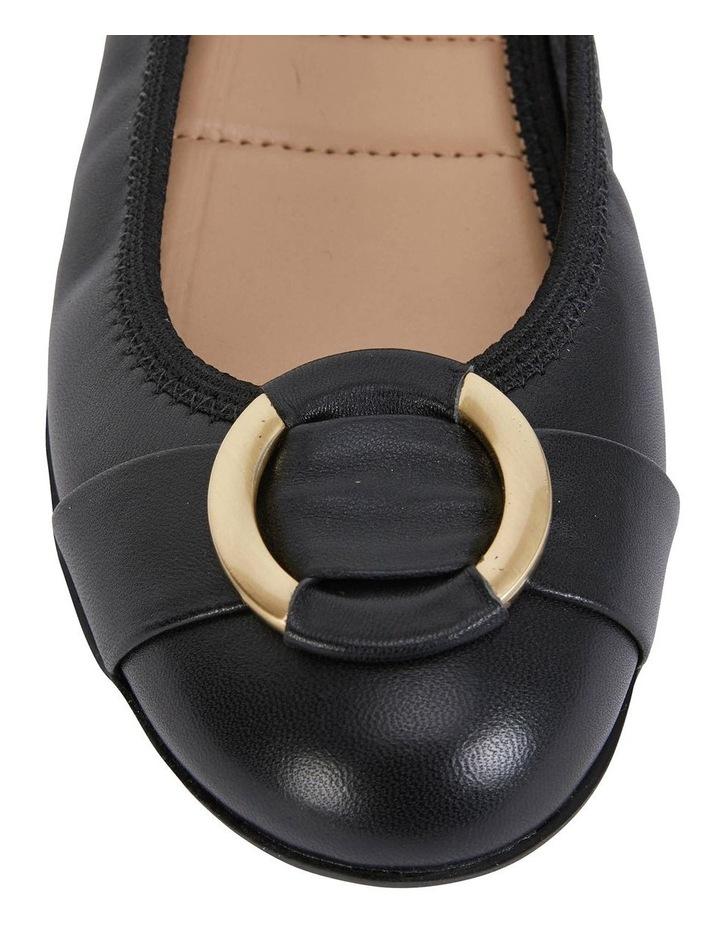 Nadine Black Glove Flat Shoes image 7