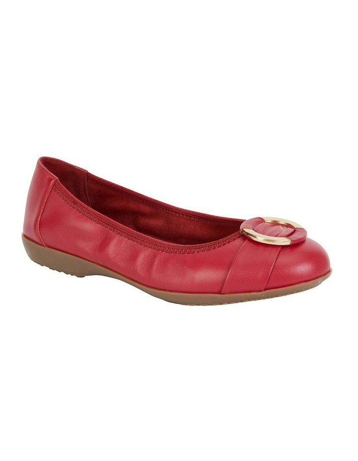 Nadine Red Glove Flat Shoes image 1