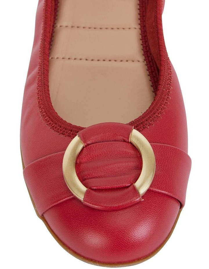Nadine Red Glove Flat Shoes image 6