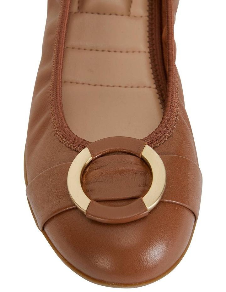 Nadine Tan Glove Flat Shoes image 6