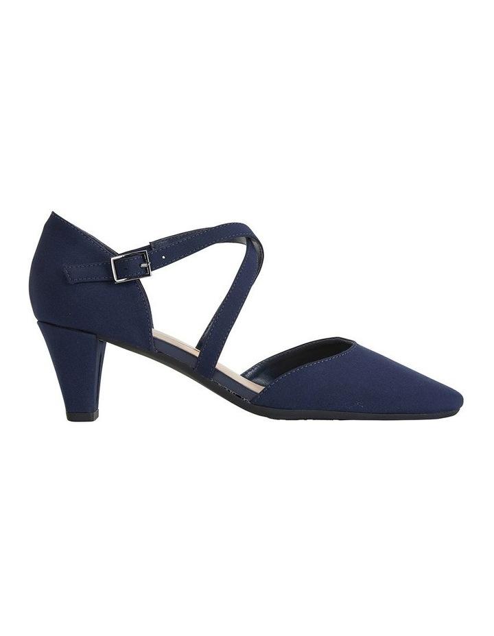 Adison Navy Fabric Heeled Shoe image 1
