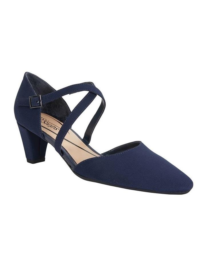 Adison Navy Fabric Heeled Shoe image 2