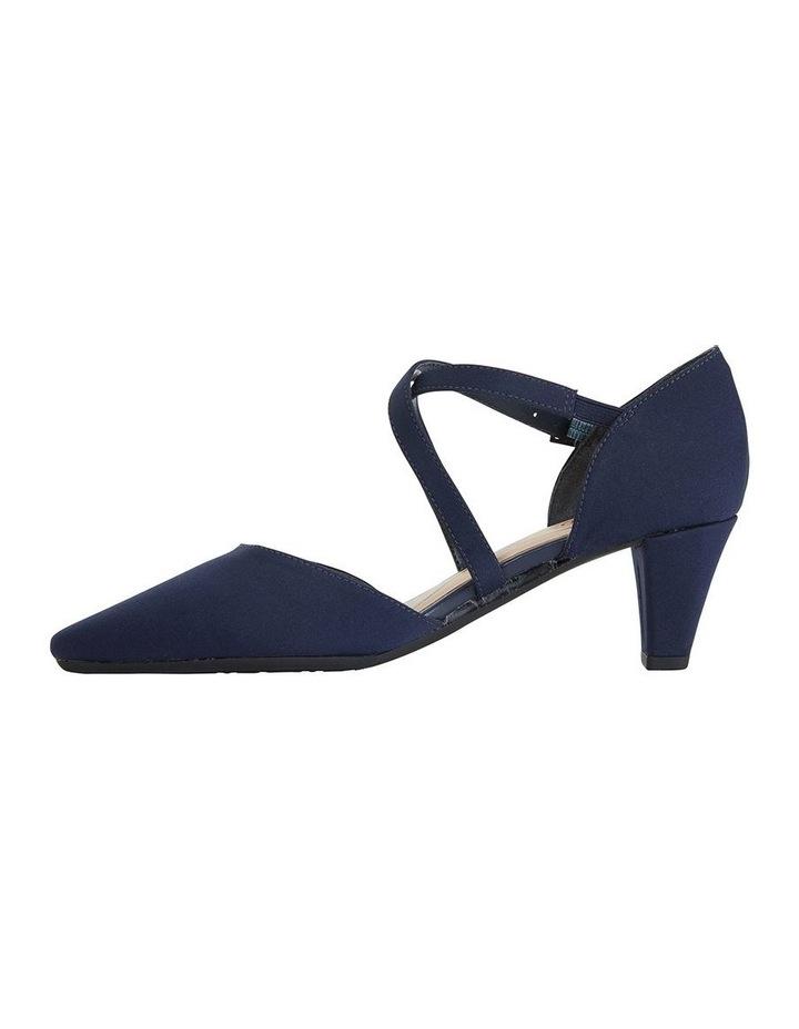 Adison Navy Fabric Heeled Shoe image 3