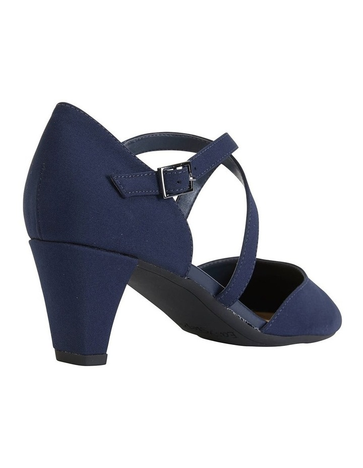 Adison Navy Fabric Heeled Shoe image 4