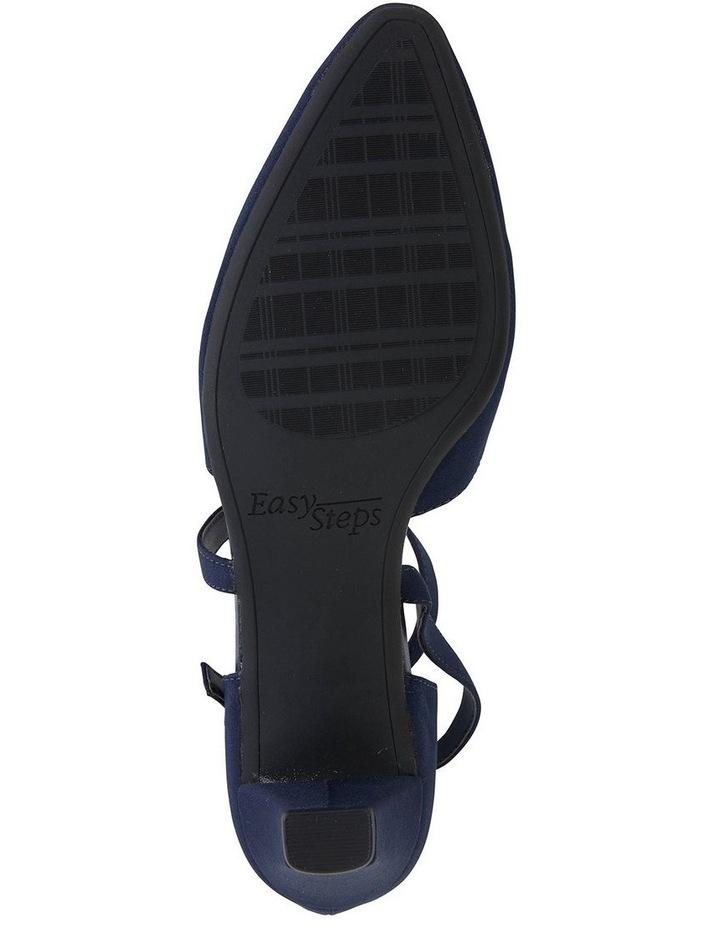 Adison Navy Fabric Heeled Shoe image 5