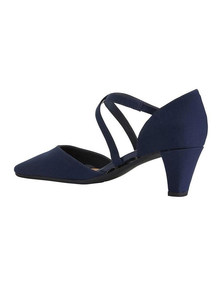 Adison Navy Fabric Heeled Shoe image 6