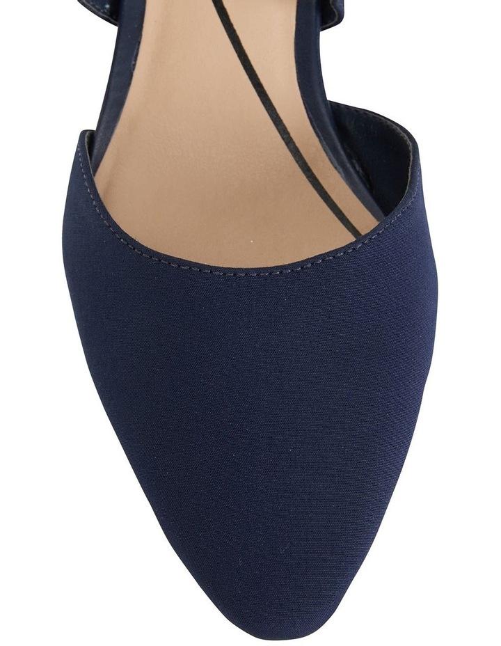 Adison Navy Fabric Heeled Shoe image 7