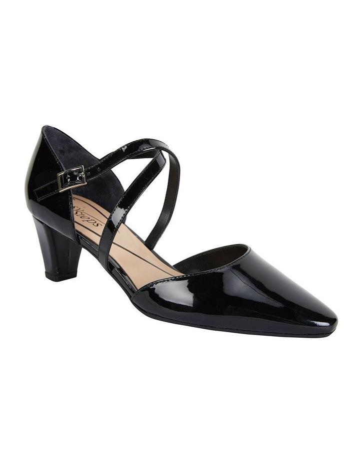 Adison Black Patent Heeled Shoe image 2