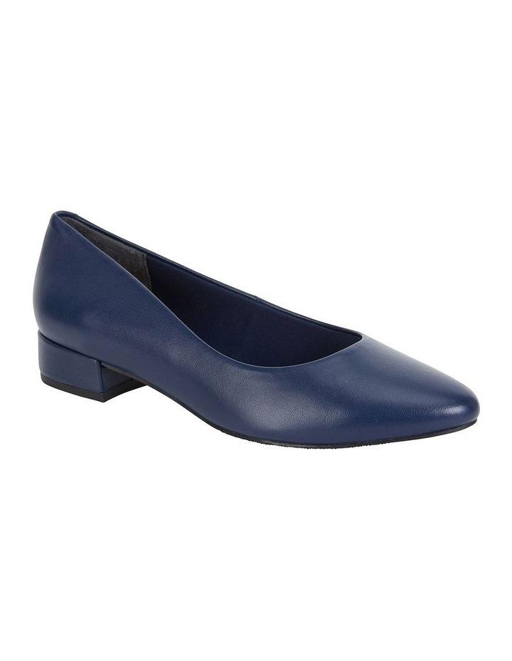 Janine Navy Glove Heeled Shoe image 2