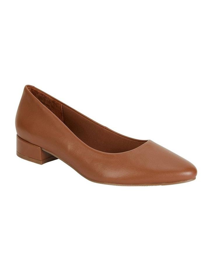 Janine Cognac Glove Heeled Shoe image 1