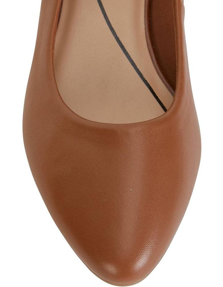 Janine Cognac Glove Heeled Shoe image 3