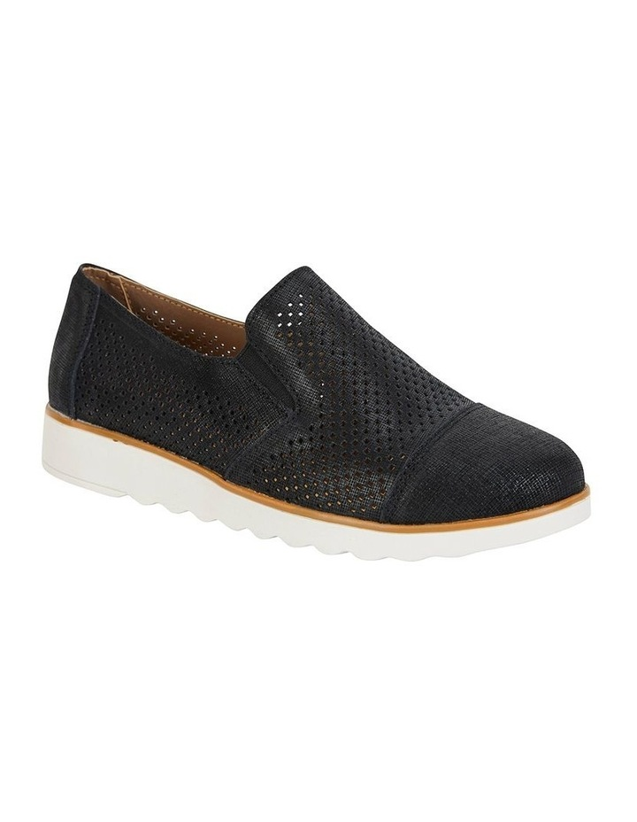 Davis Black Combo Flat Shoes image 2