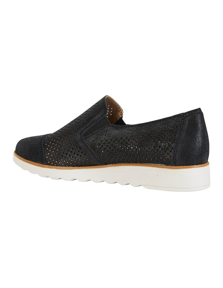 Davis Black Combo Flat Shoes image 4